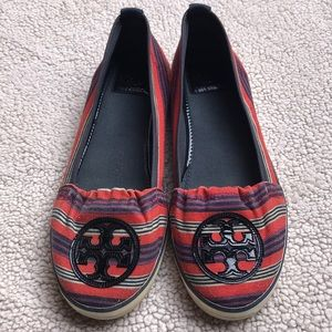 EUC Tory Burch Canvas Loafers